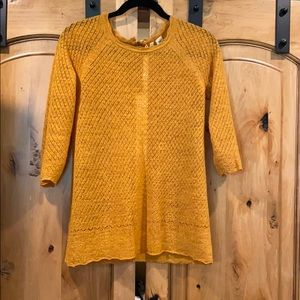 Anthropologie Lacy Zipper Sweater